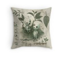 Natural History - Forest Spirit studies Throw Pillow