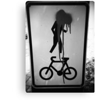 Can you ride a bike? Canvas Print