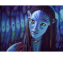 Zoe Saldana as Neytiri in Avatar Photographic Print