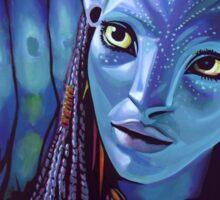 Zoe Saldana as Neytiri in Avatar Sticker