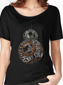 BB-8 Typography Women's Relaxed Fit T-Shirt