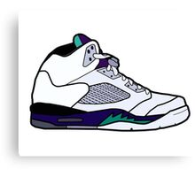 Jordan 5 Retro Grape Shoes Canvas Print