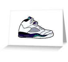 Jordan 5 Retro Grape Shoes Greeting Card