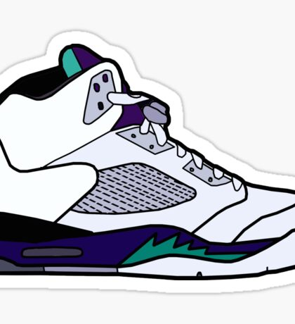 Jordan 5 Retro Grape Shoes Sticker