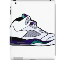 Jordan 5 Retro Grape Shoes iPad Case/Skin