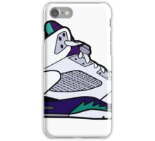 Jordan 5 Retro Grape Shoes iPhone Case/Skin