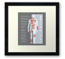 Little Game Pieces Framed Print