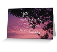 Very Large and Very Beautiful - Sunset Greeting Card