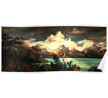 Beautiful Sunset Seascape Poster