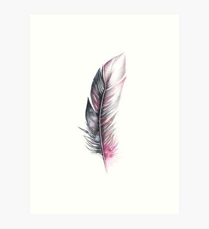 Watercolor Feather Art Art Print