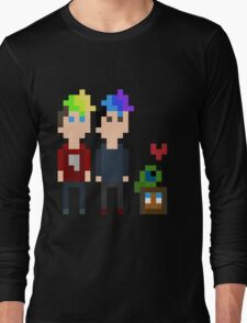 Pixel Jack, Mark and Friends Long Sleeve T-Shirt