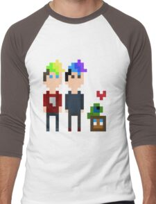 Pixel Jack, Mark and Friends Men's Baseball ¾ T-Shirt