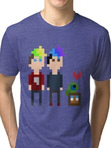 Pixel Jack, Mark and Friends Tri-blend T-Shirt