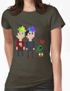 Pixel Jack, Mark and Friends Womens Fitted T-Shirt
