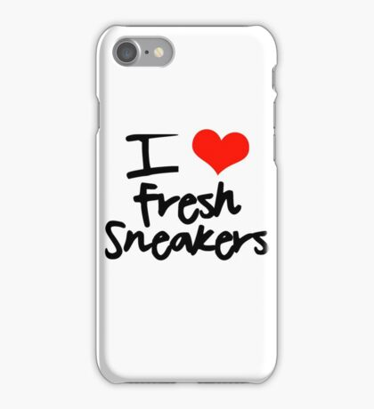 I Love Fresh Sneakers - Black iPhone Case/Skin