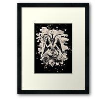 Baphomet - bleached (creme white) Framed Print