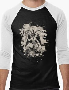 Baphomet - bleached (creme white) Men's Baseball ¾ T-Shirt
