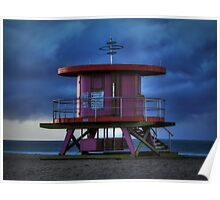 South Beach Lifeguard Station 001 Poster