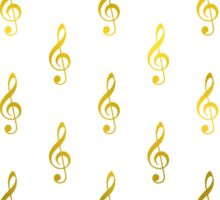 Gold Treble Clef Music Note Faux Foil Metallic  Sticker