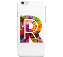 The Letter R - Flowers iPhone Case/Skin