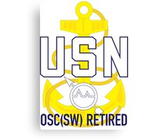 Navy OSC(SW) Retired Canvas Print