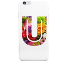 The Letter U - Flowers iPhone Case/Skin