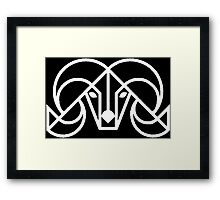 Native Stone Abstract Ram Framed Print