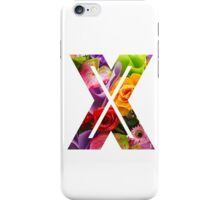 The Letter X - Flowers iPhone Case/Skin
