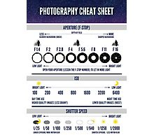 Photography Cheat Sheet Photographic Print