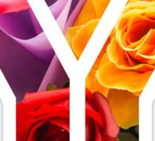 The Letter Y - Flowers Sticker