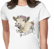 Daisy Vegan Womens Fitted T-Shirt