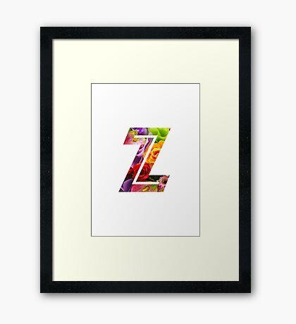 The Letter Z - Flowers Framed Print