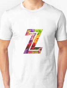 The Letter Z - Flowers Unisex T-Shirt