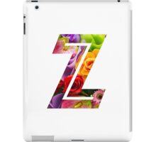 The Letter Z - Flowers iPad Case/Skin
