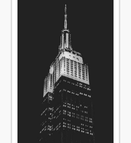 Empire State Building at Night Sticker