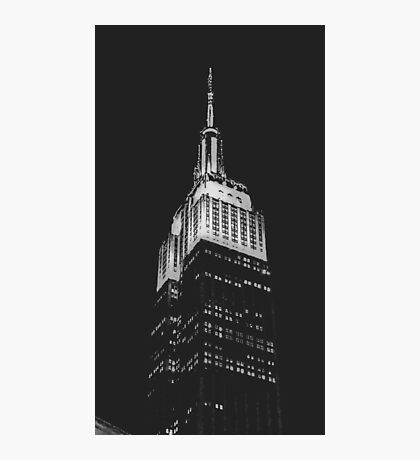 Empire State Building at Night Photographic Print