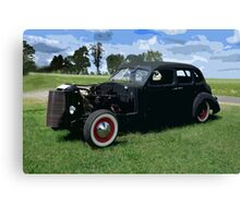 VINTAGE BLACK HOT ROD Canvas Print