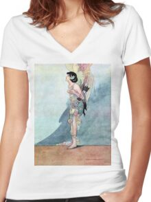 "From ""The Happy Prince"" by Charles Robinson Women's Fitted V-Neck T-Shirt"
