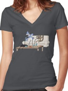 Video Game Wizards Women's Fitted V-Neck T-Shirt
