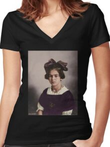 Frida Kahlo Age 12 Women's Fitted V-Neck T-Shirt