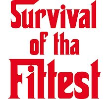 Survival of Tha Fittest - Red Photographic Print