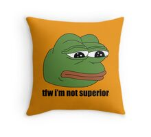 pepe frog tfw im not superior Throw Pillow