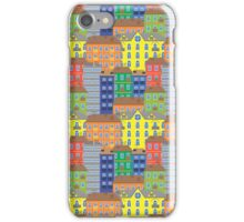 Pattern with multicolored houses iPhone Case/Skin