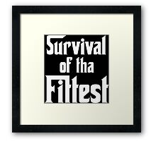 Survival of Tha Fittest - White Framed Print