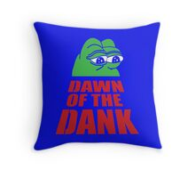 Pepe Dawn Of The Dank frog Throw Pillow