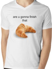 Are you gonna finish that croissant? - Carl Wheezer Mens V-Neck T-Shirt