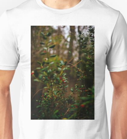 Leaves and Red Berries Unisex T-Shirt