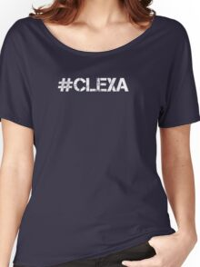 #CLEXA (White Text) Women's Relaxed Fit T-Shirt