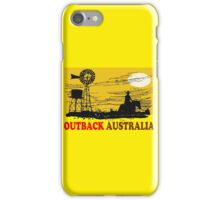 Outback Australia stockman and windmill design iPhone Case/Skin