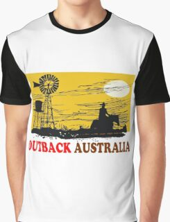 Outback Australia stockman and windmill design Graphic T-Shirt
